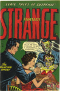 Golden Age (1938-1955):Horror, Strange Fantasy #3 Mile High pedigree (Farrell, 1952) Condition:NM-. This pre-Code horror issue has an utterly weird bonus,...