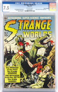 Golden Age (1938-1955):Science Fiction, Strange Worlds #3 Cosmic Aeroplane pedigree (Avon, 1951) CGC VF- 7.5 Off-white pages. Frank Frazetta, Wally Wood, Al William...