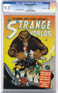 "Golden Age (1938-1955):Science Fiction, Strange Worlds #7 Davis Crippen (""D"" Copy) pedigree (Avon, 1952)CGC NM- 9.2 White pages. You can't beat the page quality of..."