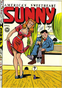 Sunny #13 Mile High pedigree (Fox, 1948) Condition: VF-. L. B. Cole art on Sunny? It's not something we had heard mentio...