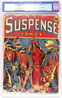 Suspense Comics #3 (Continental Magazines, 1944) CGC PR 0.5 Cream to off-white pages. Thought that you could never own a...
