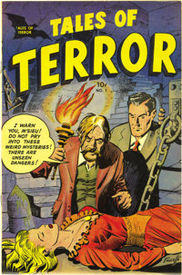 Tales of Terror #1 Mile High pedigree (Toby Publishing, 1952) Condition: NM-. We hadn't seen this pre-Code horror book b...