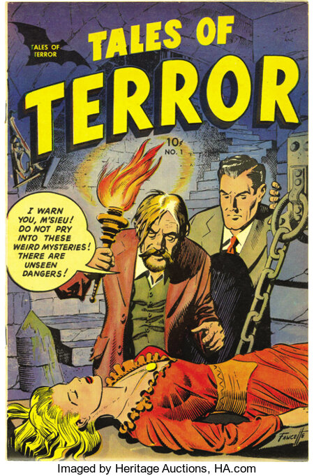 Tales of Terror #1 Mile High pedigree (Toby Publishing, 1952) Condition: NM-. We hadn't seen this pre-Code horror book befor...