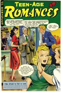 Teen-Age Romances #3 Mile High pedigree (St. John, 1949) Condition: VF/NM. With a super Matt Baker cover and three stori...