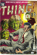 Golden Age (1938-1955):Horror, The Thing! #1 (Charlton, 1952) Condition: FN/VF. This earlyCharlton horror book may have been inspired by the 1951 movie of...