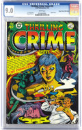 "Golden Age (1938-1955):Crime, Thrilling Crime Cases #49 Mile High pedigree (Star Publications, 1952) CGC VF/NM 9.0 White pages. ""Classic cover"" says Overs..."