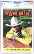 Golden Age (1938-1955):Western, Tom Mix Western #1 Mile High pedigree (Fawcett, 1948) CGC VF/NM 9.0White pages. Tom Mix and his horse Tony began their long...