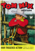 "Golden Age (1938-1955):Western, Tom Mix Western #2 (Fawcett, 1948) Condition: NM-. This issueboasts a photo cover of ""the world's most famous cowboy."" Over..."