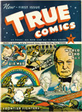 Golden Age (1938-1955):Non-Fiction, True Comics #1 Mile High pedigree (True, 1941) Condition: VF+. Thisis considered the very first educational comic book, and...