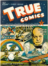 True Comics #1 Mile High pedigree (True, 1941) Condition: VF+. This is considered the very first educational comic book...