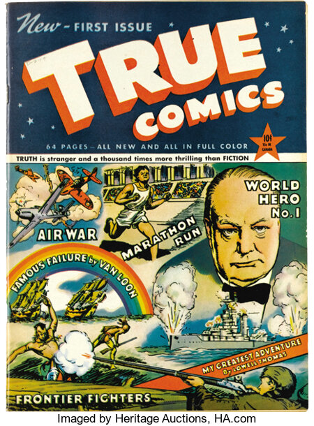 True Comics #1 Mile High pedigree (True, 1941) Condition: VF+. This is considered the very first educational comic book, and...