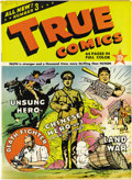 Golden Age (1938-1955):Non-Fiction, True Comics #3 Mile High pedigree (True, 1941) Condition: VF/NM.This issue has a feature on the Baseball Hall of Fame, and ...