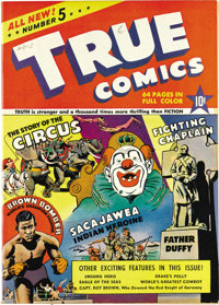 True Comics #5 Mile High pedigree (True, 1941) Condition: VF/NM. Joe Louis story. Overstreet 2006 VF/NM 9.0 value = $108...