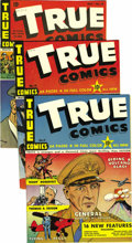 Golden Age (1938-1955):War, True Comics #11-12 and #14-19 Group - Mile High pedigree (True, 1942). Here's what you can learn from these issues: how Jame... (Total: 8 Comic Books)