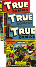 Golden Age (1938-1955):War, True Comics Group - Mile High pedigree (True, 1943-44). Issues #21 (FN/VF; looks NM from the front but has back cover staini... (Total: 11 Comic Books)