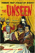 Golden Age (1938-1955):Horror, The Unseen #14 (Standard, 1954) Condition: VF/NM. Here's a pre-Codehorror book that lived up to its title in that we hadn't...