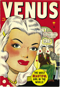 Venus #2 Mile High pedigree (Atlas, 1948) Condition: VF/NM. This copy's pages are whiter than white, gee whiz! This is t...