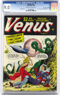 Golden Age (1938-1955):Superhero, Venus #10 Mile High pedigree (Atlas, 1950) CGC VF/NM 9.0 Off-whiteto white pages. Atlas decided to change the this title to...