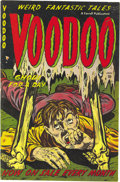 "Golden Age (1938-1955):Horror, Voodoo #5 Mile High pedigree (Farrell, 1953) Condition: VF+. ""Nazideath camp story (flaying alive)"" is Overstreet's notatio..."