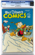"Golden Age (1938-1955):Cartoon Character, Walt Disney's Comics and Stories #89 Davis Crippen (""D"" Copy) pedigree (Dell, 1948) CGC VF/NM 9.0 Off-white to white pages. ..."