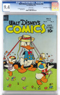"""Golden Age (1938-1955):Cartoon Character, Walt Disney's Comics and Stories #92 Davis Crippen (""""D"""" Copy) pedigree (Dell, 1948) CGC NM 9.4 White pages. Spring is in the..."""