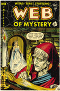 Golden Age (1938-1955):Horror, Web of Mystery #6 (Ace, 1951) Condition: VF/NM. Pre-Code horror.Lou Cameron art. Overstreet 2006 VF/NM 9.0 value = $246; NM...