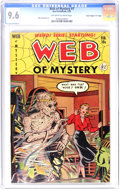 "Golden Age (1938-1955):Horror, Web of Mystery #7 Davis Crippen (""D"" Copy) pedigree (Ace, 1952) CGCNM+ 9.6 Off-white to white pages. Mike Sekowsky delivers..."