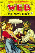 Golden Age (1938-1955):Horror, Web of Mystery #11 Mile High pedigree (Ace, 1952) Condition: NM-.Lou Cameron and Mike Sekowsky contributed to this pre-Code...