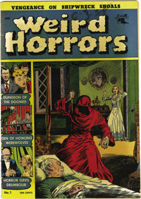 Weird Horrors #1 Mile High pedigree (St. John, 1952) Condition: VG+. Pre-Code issue with Bob Forgione and George Tuska a...