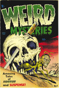 Golden Age (1938-1955):Humor, Weird Mysteries #4 File Copy (Gillmor, 1953) Condition: VF-. Bernard Baily's skull cover is the big draw here, and inside th...