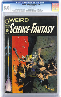 Weird Science-Fantasy #29 (EC, 1955) CGC VF 8.0 Off-white to white pages. So much to say about this final pre-Code book...