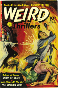 Weird Thrillers #5 (Ziff-Davis, 1952) Condition: NM-. The covers of the other issues get all of the ink, but this may be...
