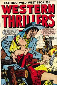 Western Thrillers #6 (Fox Features Syndicate, 1949) Condition: NM-. This was the last issue of the series. Based on this...