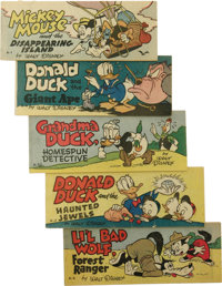 Wheaties and Cheerios Premiums Group (Walt Disney Productions, 1947-51) Condition: Average VF+. These pocket-sized premi...