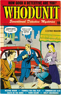 Whodunit #1 Mile High pedigree (D.S. Publishing, 1948) Condition: NM-. Matt Baker contributed interior art to this issue...
