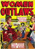 Golden Age (1938-1955):Western, Women Outlaws #1 Mile High pedigree (Fox Features Syndicate, 1948)Condition: NM. This copy's brilliant cover colors are not...