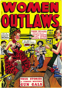 Women Outlaws #1 Mile High pedigree (Fox Features Syndicate, 1948) Condition: NM. This copy's brilliant cover colors are...