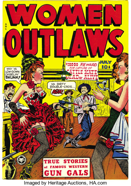 Women Outlaws #1 Mile High pedigree (Fox Features Syndicate, 1948) Condition: NM. This copy's brilliant cover colors are not...