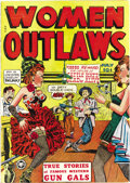 Golden Age (1938-1955):Western, Women Outlaws #1 (Fox Features Syndicate, 1948) Condition: VF-. Here's a title that caught Fredric Wertham's attention and w...