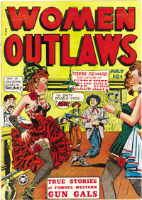 Women Outlaws #1 (Fox Features Syndicate, 1948) Condition: VF-. Here's a title that caught Fredric Wertham's attention a...