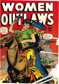 """Women Outlaws #5 (Fox Features Syndicate, 1949) Condition: NM-. """"The Lady With The Smoking Sixes"""" is among the..."""