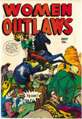"Golden Age (1938-1955):Crime, Women Outlaws #7 (Fox Features Syndicate, 1949) Condition: VF+. ""Headlight"" cover. Overstreet 2006 VF 8.0 value = $287; VF/N..."