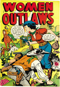 """Women Outlaws #8 (Fox Features Syndicate, 1949) Condition: NM-. """"The Vengeful Vixen"""" is one of the tales of fe..."""