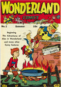 Golden Age (1938-1955):Funny Animal, Wonderland Comics #1 Mile High pedigree (Feature, 1945) Condition:NM. Howie Post contributed cover and interior art to this...
