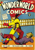 Golden Age (1938-1955):Superhero, Wonderworld Comics #22 (Fox, 1940) Condition: VF. Here's one we had never seen in high grade before! The Flame is the cover ...