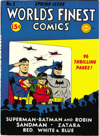 World's Finest Comics #5 Mile High pedigree (DC, 1942) Condition: VF. These early issues with cardboard covers are hard...