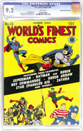 Golden Age (1938-1955):Superhero, World's Finest Comics #10 Mile High pedigree (DC, 1943) CGC NM- 9.2 White pages. Hey, that wouldn't happen to be a Mile High...