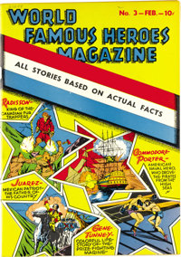 World Famous Heroes Magazine #3 Mile High pedigree (Centaur, 1942) Condition: VF/NM. Ernie Gerber assigned this issue a...