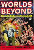 Golden Age (1938-1955):Horror, Worlds Beyond #1 Mile High pedigree (Fawcett, 1951) Condition: NM-. This pre-Code horror mag has cover art by Sheldon Moldof...
