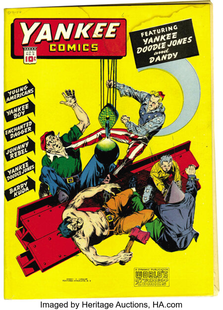 Yankee Comics #3 Mile High pedigree (Chesler, 1942) Condition: VG/FN. Nice off-white to white pages. Water stain through top...